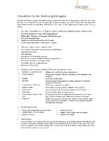 Checkliste Wohnungsrückgabe