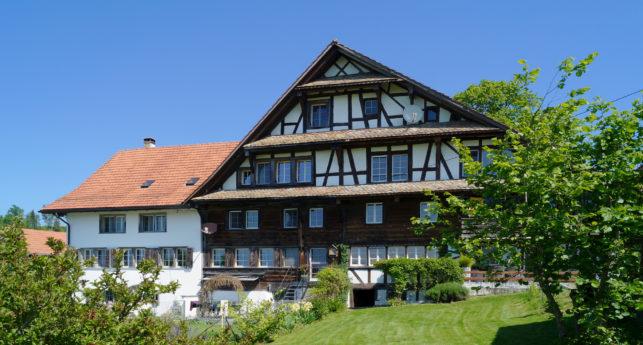 Bauernhausteil mit See- und Bergsicht in Hausen am Albis